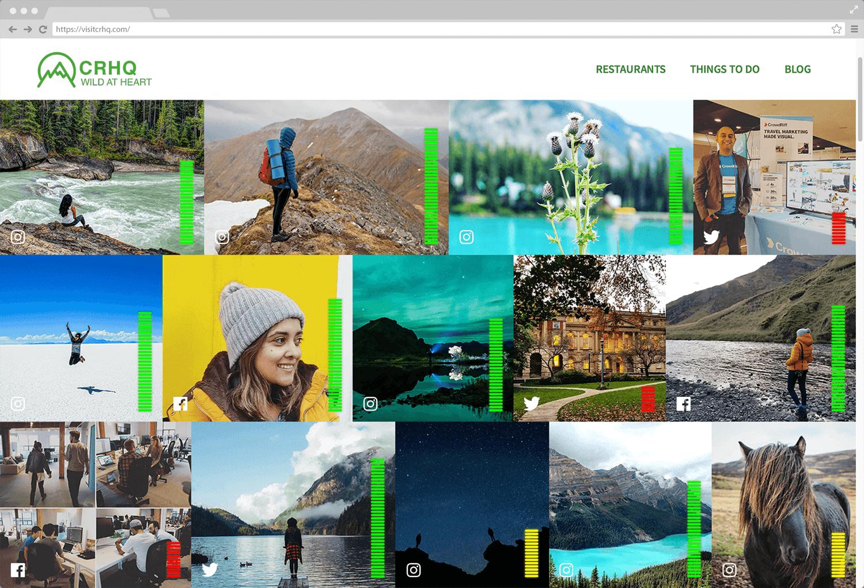 Screenshot of optimized CrowdRiff gallery